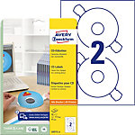 AVERY Zweckform CD Etiketten L6015 25 Weiß 50 Stück