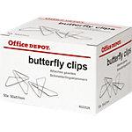 Office Depot Schmetterling Büroklammern 57 mm Silber 50 Stück