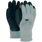 M Safe Handschuhe Coldgrip Latex Größe M Schwarz, Grau 2 Stück