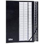 Office Depot Ordnungsmappe DIN A4 Schwarz Recyclingkarton Jan – Dez + 1 – 31 25 x 35 cm