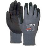 M Safe Handschuhe Nitri Tech Foam Nitril Größe L Schwarz, Grau 2 Stück