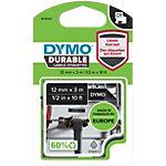 DYMO D1 Durable Hochleistungsbänder 1978365 Weiss auf Schwarz 12 mm x 3 m