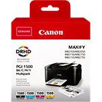 Canon PGI 1500 Original Tintenpatrone Schwarz, Cyan, Magenta, Gelb 4 Stück