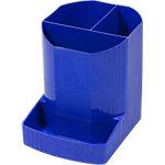Exacompta Stiftehalter Forever 675101D, kobaltblau, 90x111x123 mm, 4 Fächer, achteckig