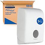 AQUARIUS Falthandtuchspender 6945 Kunststoff Weiß 26,5 x 14 x 39,9 cm