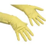 Vileda Handschuhe Der Ökonomische Naturlatex, Baumwolle Größe S Gelb 1 Paar