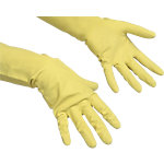 Vileda Handschuhe Der Ökonomische Naturlatex, Baumwolle Größe L Gelb 2 Stück