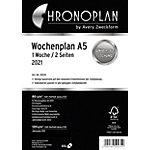 Chronoplan Buchkalender Nachfüllung 50237 A5 1 Woche auf 2 Seiten 2021 Weiß