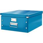 Leitz Aufbewahrungsbox Click & Store Polypropylen laminierte Hartpappe Blau 36.9 x 48.2 x 20 cm