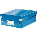 Leitz Organisationsbox Klein Click & Store Polypropylen laminierte Hartpappe Blau 22 x 28.5 x 10 cm