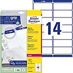 AVERY Zweckform L7163 40 Adressetiketten 99,1 x 38,1 mm Weiss 99.1 x 38.1 mm 14 Blatt à 40 Etiketten