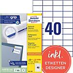 AVERY Zweckform 3651 200 Universaletiketten A4 Weiss 52.5 x 29.7 mm 220 Blatt à 40 Etiketten
