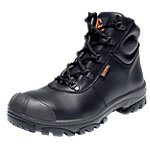 EMMA Sicherheitsschuhe Leder S3 high Größe 45 Schwarz 2 Stück