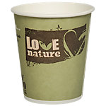 PAPSTAR Pappbecher Pure Love Nature 200 ml Farbig assortiert 50 Stück