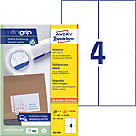 AVERY Zweckform Adressetiketten 3483 200 Ultragrip Weiss DIN A4 105 x 148 mm 220 Blatt à 4 Etiketten