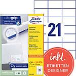 AVERY Zweckform Adressetiketten 3652 200 Ultragrip Weiss 70 x 42,3 mm 220 Blatt à 21 Etiketten
