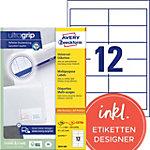 AVERY Zweckform Adressetiketten 3659 200 Ultragrip Weiss DIN A4 97 x 42,3 mm 220 Blatt à 12 Etiketten
