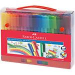 Faber Castell Filzstift Connector 3 mm Farbig assortiert 60 Stück