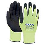 Oxxa Handschuhe X Grip Lite Nylon, Latex Größe XXL Schwarz, Gelb 2 Stück