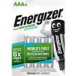 Energizer AAA Wiederaufladbare Batterien Extreme HR03 800 mAh NiMH 1,2 V 4 Stück