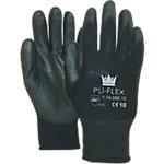 Handschuhe Flex Polyurethan Größe L Schwarz 2 Stück