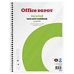Office Depot A4+ Drahtgebunden Weiß Papierumschlag Notizbuch Kariert Recycelt mikroperforiert 100 Blatt