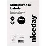 Niceday 980462 Universaletiketten Weiss 70 x 42.3 mm 2100 Etiketten