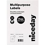 Niceday 67098 Universaletiketten A4 Weiss 210 x 297 mm 100 Blatt à 1 Etikett