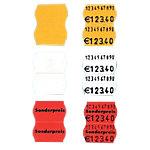 SATO Etikettenrolle 26 x 16 mm Weiß 2 zeilig Weiß 2,6 x 1,6 cm 1200 Stück