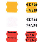 SATO Etikettenrolle Leuchtrot 2,6 x 1,2 cm 1500 Stück