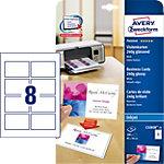 AVERY Zweckform Visitenkarten C32028 25 Weiss A4 240 g