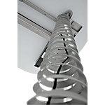 Hammerbacher Kabelspirale Silber 9 x 111.4 cm