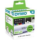 DYMO LW Adressetiketten 99012 Schwarz auf Weiss 36 mm x 89 mm