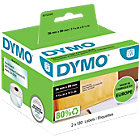 DYMO LW Adressetiketten 99013 Schwarz auf Transparent 36 mm x 89 mm