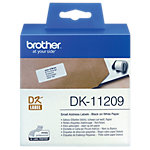 Brother Adressetiketten DK 11209 29 x 62 mm Weiss 800 Etiketten