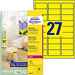 AVERY Zweckform Laser  & Kopieretiketten L6004 25 Gelb 63.5 x 29.6 mm 25 Blatt à 27 Etiketten
