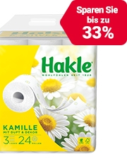 Ab CHF3.95 Hakle Toilettenpapier