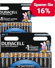 Ab CHF1.45 Duracell Batterien