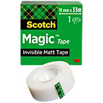 Ruban adhésif Scotch Magic 19mm x 33m Invisible