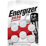 Piles bouton Energizer CR2032 6 Unités