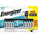 Piles Energizer Max Plus AAA Paquet économique 8 + 4 gratuit