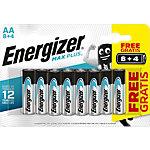 Piles Energizer Max Plus AA Paquet économique 8 + 4 gratuit
