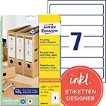 Étiquettes AVERY Zweckform LR4760 25 Blanc A4 38 x 192 mm 30 Feuilles de 7 Étiquettes