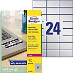 Étiquettes AVERY Zweckform L6133 20 A4 Blanc 70 x 37 mm 20 Feuilles de 24 Étiquettes