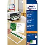 Cartes de visite Avery Quick&Clean 85 x 54 mm Blanc 85 x 54 mm 10 Feuilles de 10 Étiquettes