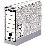 Boîte de classement Fellowes System Gris, blanc Carton ondulé 10 x 31.5 x 26 cm 10 Unités