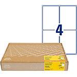 Étiquettes d'adresse AVERY Zweckform 8017 300 A4 Blanc 99,1 x 139 mm 300 Feuilles de 4 Étiquettes