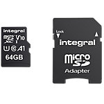Carte mémoire micro SDXC Integral V10 64 Go