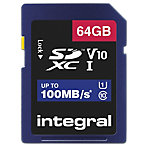 Carte mémoire SDXC Integral V10 64 Go