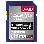 Carte mémoire SDXC Integral V30 64 Go